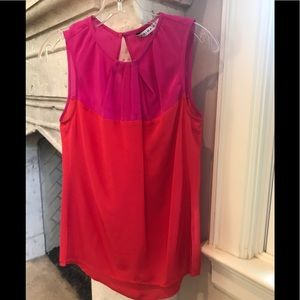 Trina Turk silk sleeveless blouse